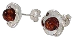 Other Baltic Amber Earrings in Sterling Silver