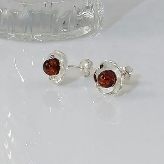 Other Baltic Amber Earrings in Sterling Silver Image 2