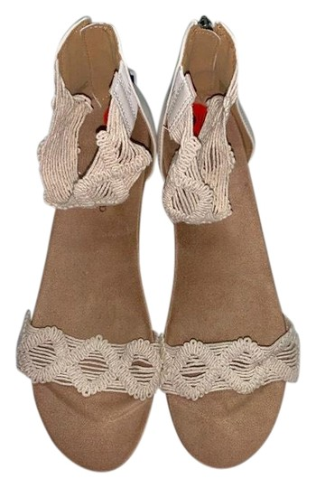 Lucky Brand Crochet Wedge Ivory Sandals Image 0