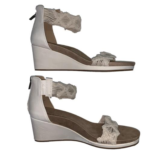 Lucky Brand Crochet Wedge Ivory Sandals Image 1