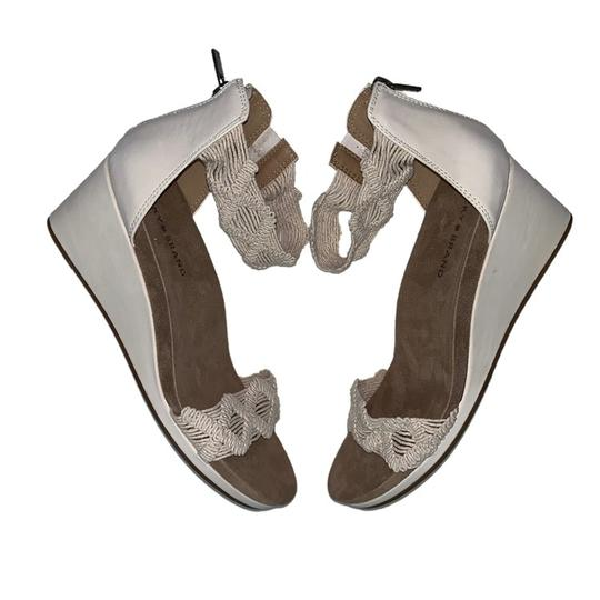 Lucky Brand Crochet Wedge Ivory Sandals Image 2