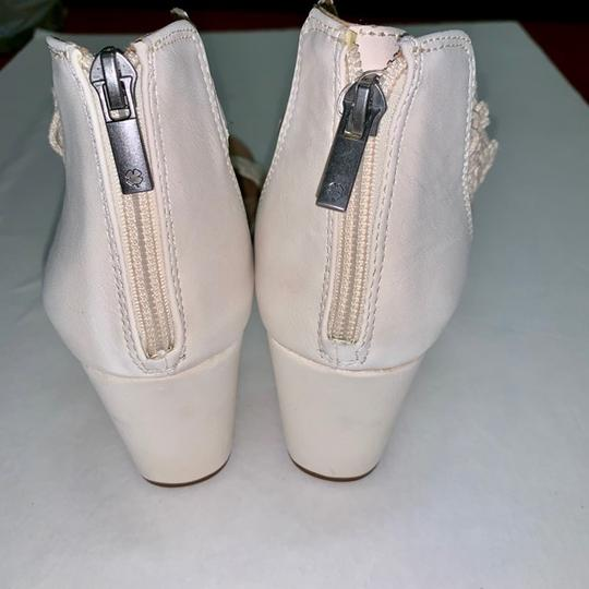Lucky Brand Crochet Wedge Ivory Sandals Image 4