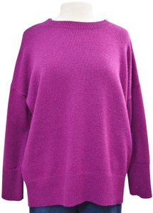 Theory Magenta Cashmere Doleman Sweater