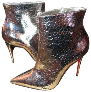 Christian Louboutin silver Boots