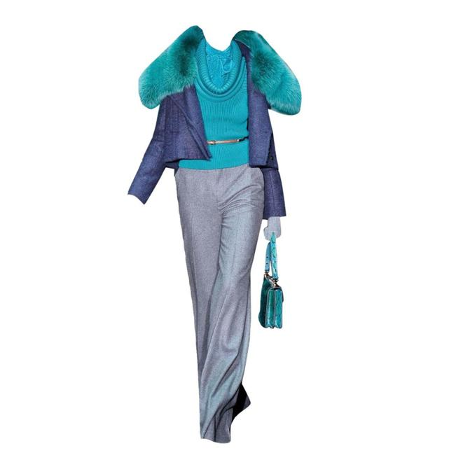 Item - W New Grey Wool & Cashmere Runway F / 2011 Pants Size 4 (S, 27)