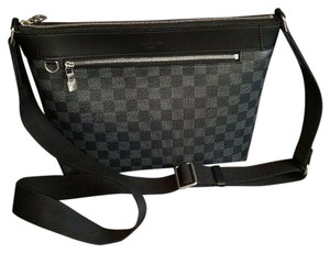 Louis Vuitton Gray, black Messenger Bag