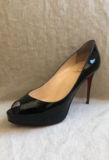 huge discount 5038d 89261 Christian Louboutin Black New Very Prive 100 Patent Platforms Size EU 38.5  (Approx. US 8.5) Regular (M, B) 57% off retail