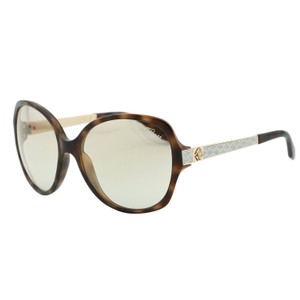 Roberto Cavalli New Bucaneve RC649S Women Oval Tortoise Brown & Snake Sunglasses