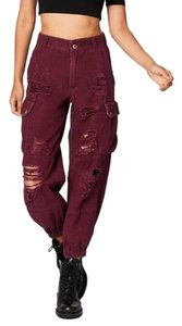 Carmar Cargo Pants Berry Red