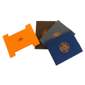 Hermès Authentic HERMES Logos 3 Set Sticky Notes Memo Paper Multi-Color