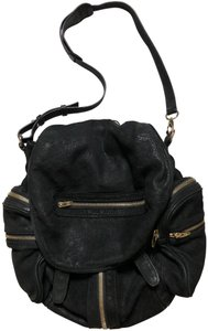 Alexander Wang Convertible Marti Pebbled Leather Backpack