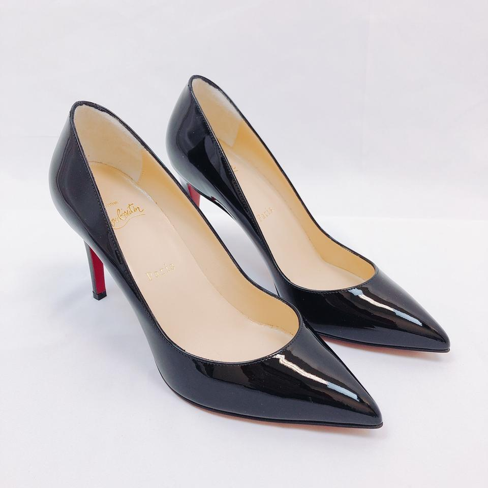 official photos b0fe1 c1e03 Christian Louboutin Black Pigalle Follies 85 Patent Leather Pumps Size EU  38 (Approx. US 8) Regular (M, B)