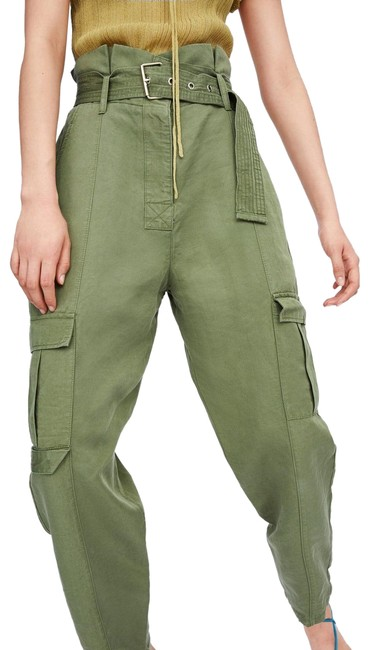 Item - Green With Belt Pants Size 4 (S, 27)