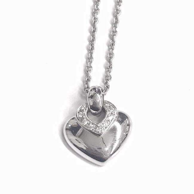 Item - Great Condition 18 Karat White Gold and Diamond Heart Pendant Necklace