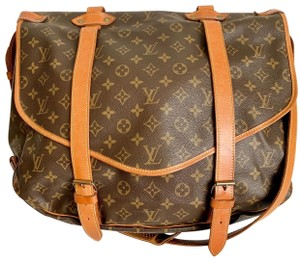 Louis Vuitton Saumur Saumur 43 Neverfull Speedy Brown Messenger Bag