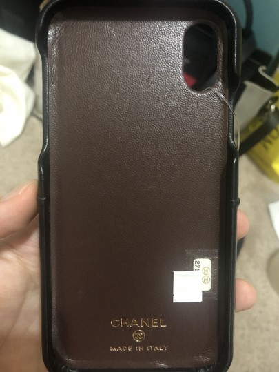 Chanel Chanel Logo Lambskin Quilted iPhone X black Image 4