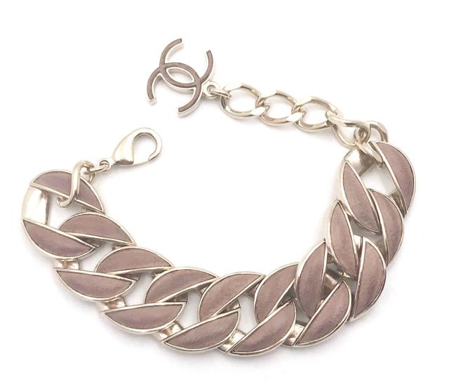 Item - Gold Mauve Leather Cc Thick Bracelet