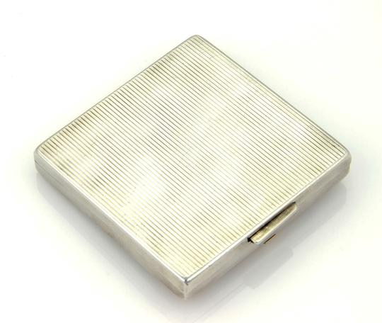 Tiffany & Co. Sterling Silver & 14K Yellow Gold Sapphire Gem Makeup Compact Image 3