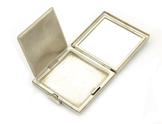 Tiffany & Co. Sterling Silver & 14K Yellow Gold Sapphire Gem Makeup Compact Image 5