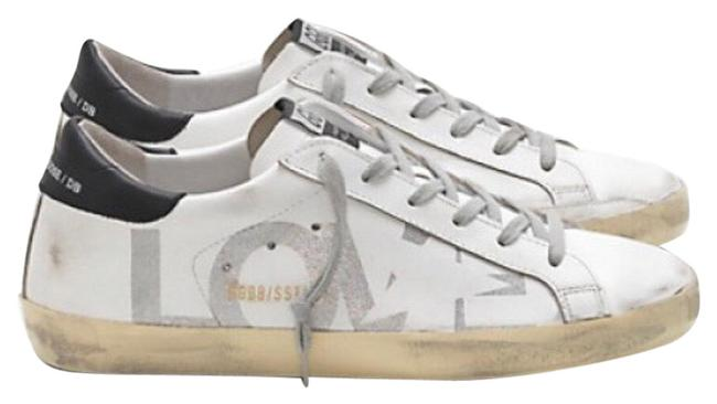 Item - White/Sliver Superstar with Glitter Love Sneakers Size EU 38 (Approx. US 8) Regular (M, B)