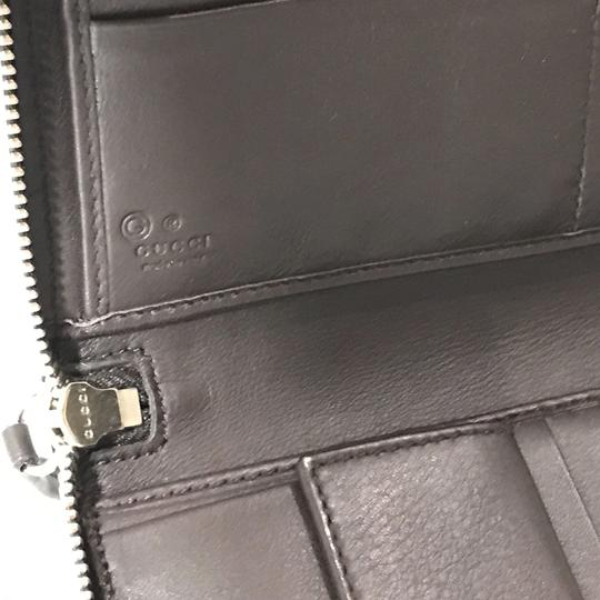 Gucci NEW GUCCI XL Leather Microguccissima Zip around Wallet Image 10