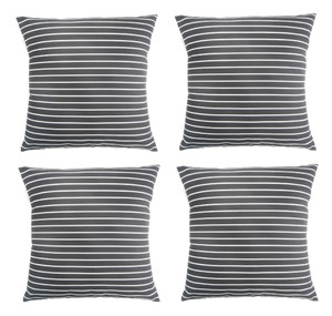 "4-pack Vertical Striped Print (18""X18"") Throw Pillow Covers Decoration"