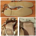 Stuart Weitzman Gold Ankle Wrap Leather Espadrill Cheetah Sandals Image 4