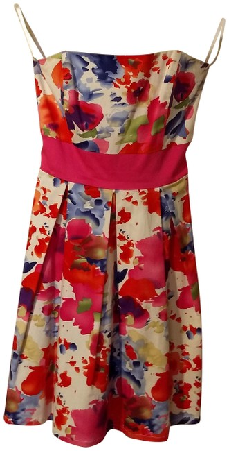Item - Watercolor Strapless Short Casual Dress Size OS
