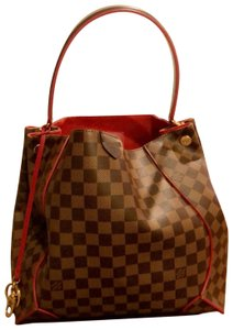 Louis Vuitton Leather Limited Edition Damier Canvas Hobo Bag
