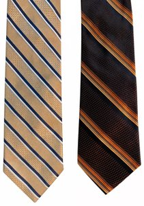 Valentino Valentino Striped Print Lot of 2 Silk Ties