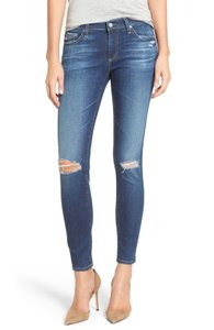 AG Adriano Goldschmied Stretchy Distressed Skinny Jeans-Distressed