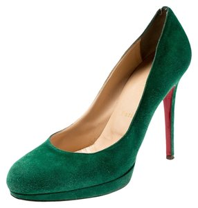Christian Louboutin Suede Leather Green Pumps