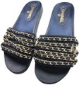 Chanel Navy Mules Image 0