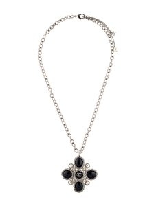 Chanel Gripoix resin pearl CC necklace