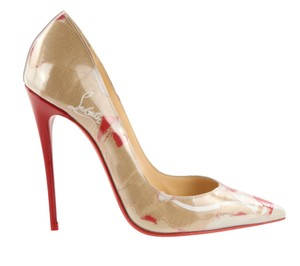 Christian Louboutin Patent Leather Leather Stiletto Multi Pumps