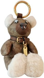 Coach Coach Bear Keychain Charm Signature Limited Edition Collection