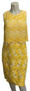 J.Crew Lace Cut-out Floral Tiered Midi Dress