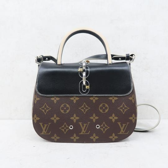 Louis Vuitton Lv Chain It Calfskin Satchel in Black and Monogram Image 2