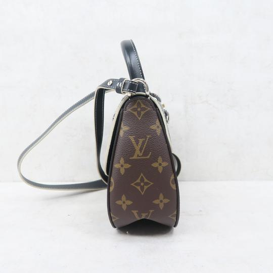 Louis Vuitton Lv Chain It Calfskin Satchel in Black and Monogram Image 4