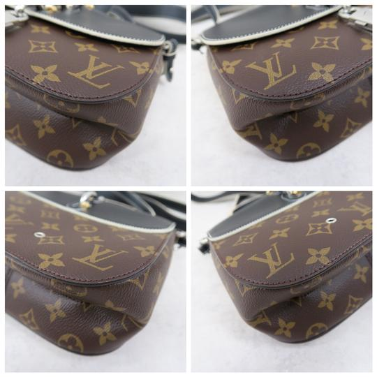Louis Vuitton Lv Chain It Calfskin Satchel in Black and Monogram Image 6