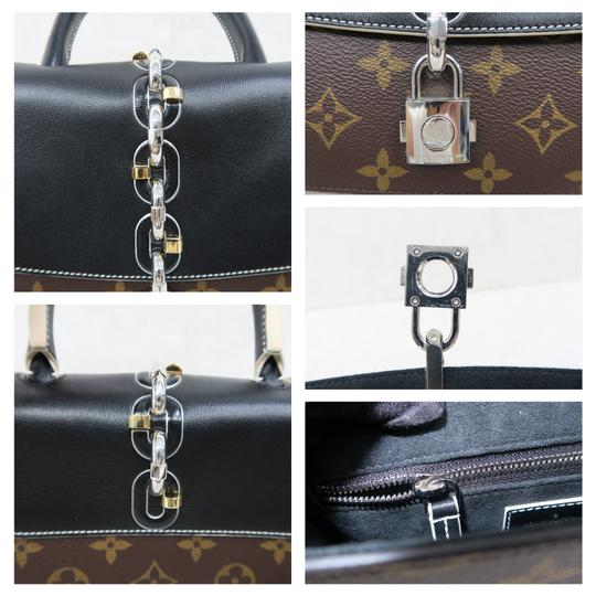 Louis Vuitton Lv Chain It Calfskin Satchel in Black and Monogram Image 8