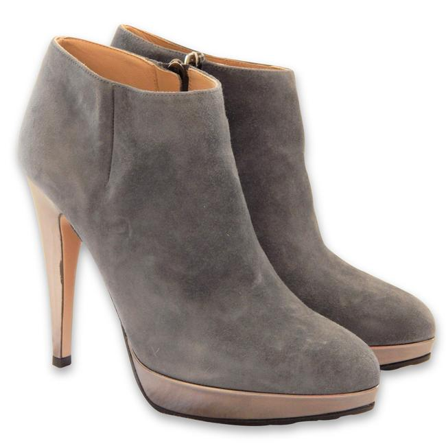 Item - Grey Gold New Suede Ankle Platform Boots/Booties Size EU 37 (Approx. US 7) Regular (M, B)