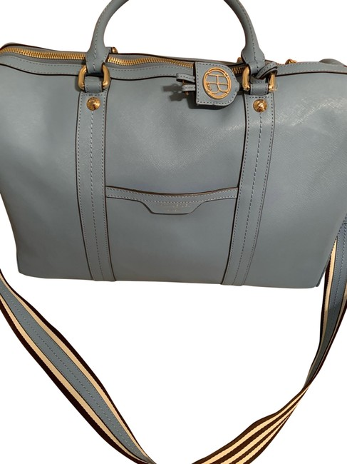 Item - Blue Saffiano Leather Weekend/Travel Bag