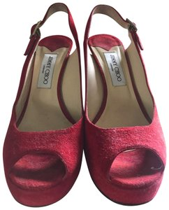 Jimmy Choo red Platforms