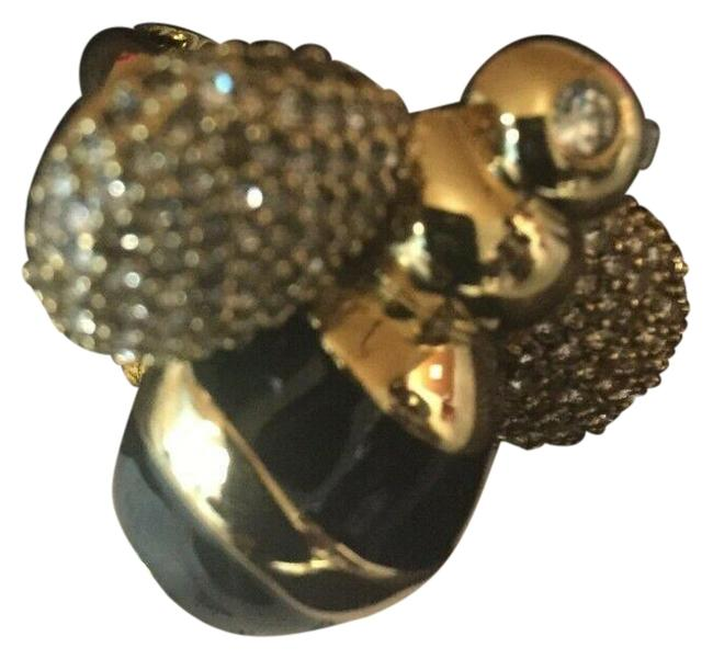 Item - Gold Black Queen Bee Size 7 Glass Stones Style # Wbruc021 Ring