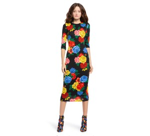 black/floral Maxi Dress by Alice + Olivia