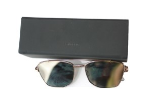 Vera Wang VERA WANG 'NYAH' MIRRORED LENS METAL FRAME SUNGLASSES NEW