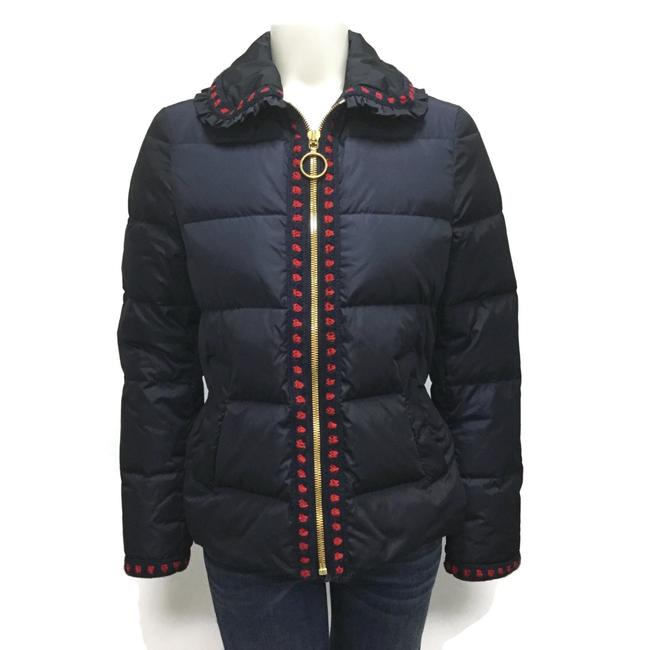 Gucci Navy / Red Dots Short Puffer Coat Size 4 (S) Gucci Navy / Red Dots Short Puffer Coat Size 4 (S) Image 1