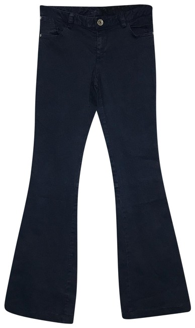Item - Navy Low Waisted Flare Leg Jeans Size 4 (S, 27)