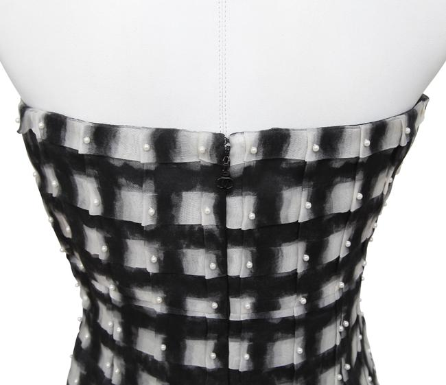 Chanel Short Strapless Party Dress Image 5